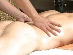 Hunk is pounding stud's anal during scatological rub down